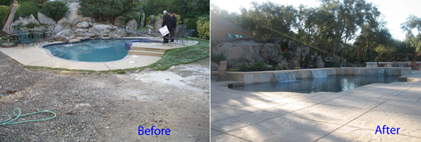 Swimming Pool Remodel Before And After : Dalpino quality pools swimming pool remodel
